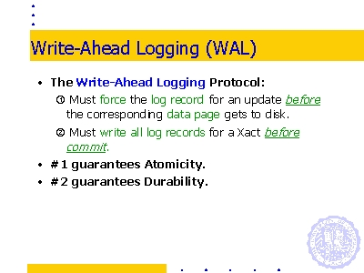 Write-ahead logging explained